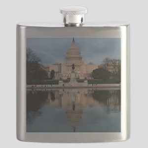 U.S. Capitol Building with Reflection Flask