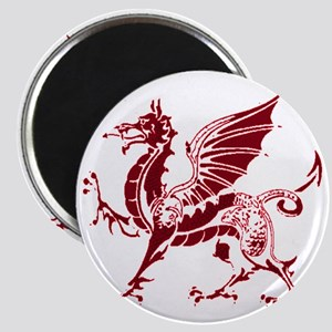 Two tone red and white dragon Magnet