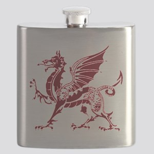 Two tone red and white dragon Flask