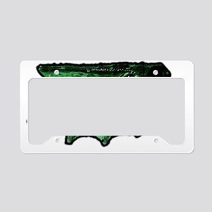 frog island sideways flipper License Plate Holder