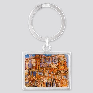 Philadelphia Genos CheeseSteak  Landscape Keychain