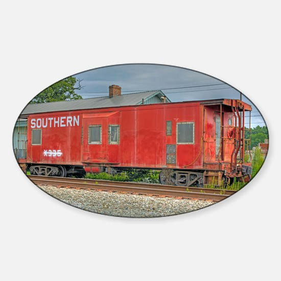 Kernersville Red Caboose Sticker (Oval)