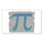 1000 digits of PI - Rectangle Sticker