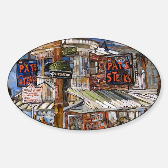 Philadelphia Pats CheeseSteak Sticker (Oval)