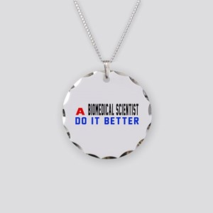 Biomedical scientist Do It B Necklace Circle Charm