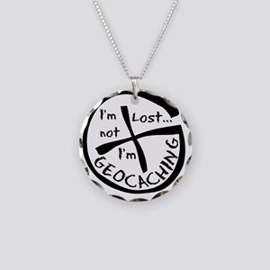 Im Not Lost...Im Geocaching Necklace Circle Charm