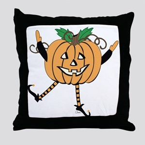 Halloween Pumpkin Sprite Throw Pillow