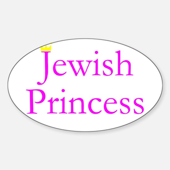 JEWISH PRINCESS T-SHIRT MUG T Oval Decal