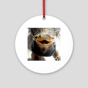 Bearded Dragon Round Ornament
