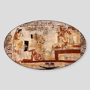 mayan Sticker (Oval)