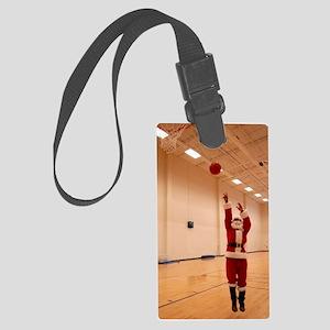 Basketball Santa Large Luggage Tag