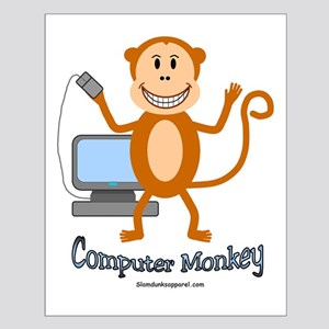 Computer Monkey Small Poster