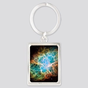 Crab Nebula Portrait Keychain