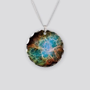 Crab Nebula Necklace Circle Charm