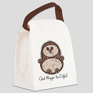 Hedgehoggin' the Coffee! Canvas Lunch Bag