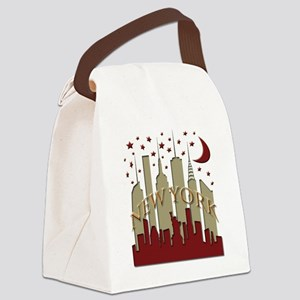New York City Skyline hot Canvas Lunch Bag
