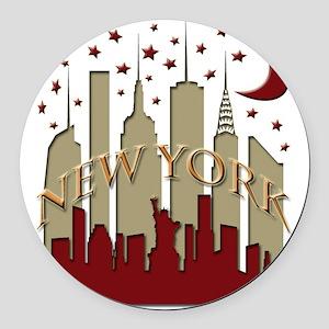 New York City Skyline hot Round Car Magnet
