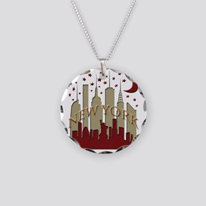 New York City Skyline hot Necklace Circle Charm