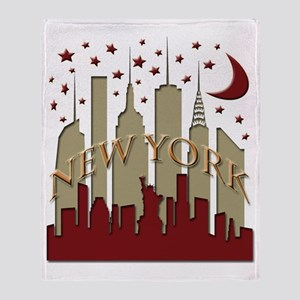 New York City Skyline hot Throw Blanket
