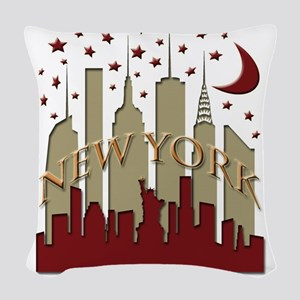 New York City Skyline hot Woven Throw Pillow