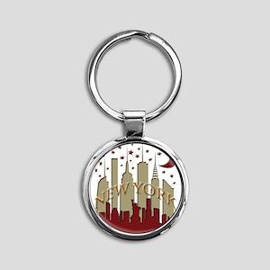 New York City Skyline hot Round Keychain