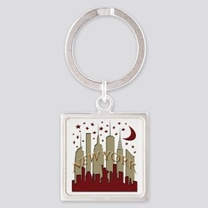 New York City Skyline hot Square Keychain