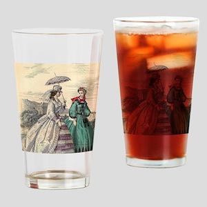 Victorian Women Drinking Glass