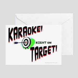 Karaoke! Right on Target! Greeting Card
