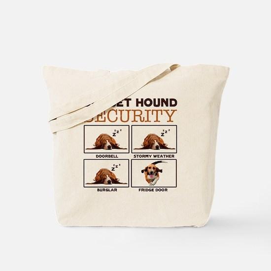 Funny Basset hound Tote Bag
