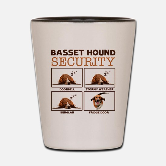 Cute Basset hound Shot Glass