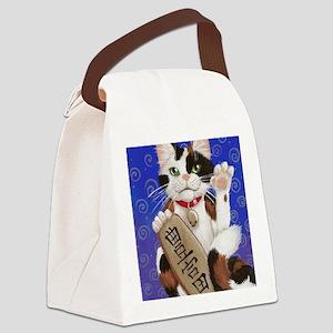 Maneki Neko of Abundance Canvas Lunch Bag
