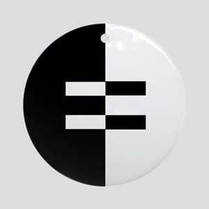 Interracial Equality Ornament (Round)
