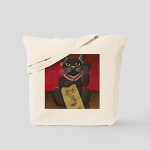 Maneki Neko Bast Tote Bag