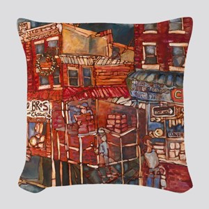 Philadelphia Claudio and DiBru Woven Throw Pillow