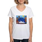 Original Sydney Painting Women's V-Neck T-Shirt