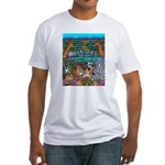 Colours Of Africa Painting On Fitted T-Shirt