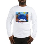 Original Sydney Painting on Long Sleeve T-Shirt