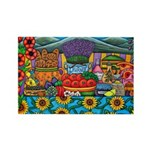 Colours Of Provence Rectangle Magnet (10 Magnets