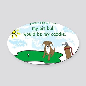 pit bull Oval Car Magnet