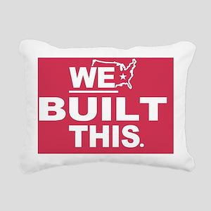 We Built This Rectangular Canvas Pillow