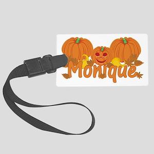 Halloween Pumpkin Monique Large Luggage Tag