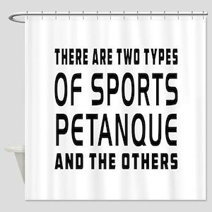 Petanque Designs Shower Curtain