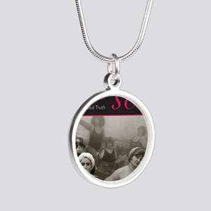 Fat Sex: The Naked Truth Silver Round Necklace