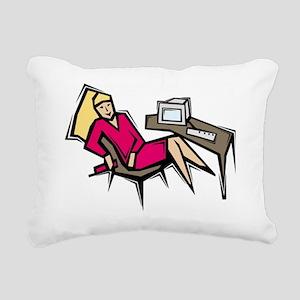 OfficeWork_0482 Rectangular Canvas Pillow