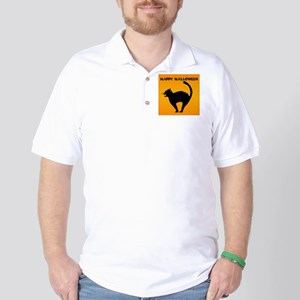 Halloween Cat Golf Shirt