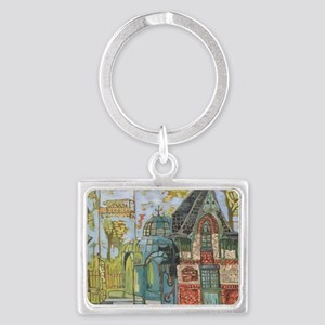 Philadelphia Zoo Entrance Octob Landscape Keychain
