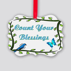 Count your blessings Picture Ornament