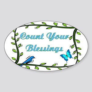 Count your blessings Sticker (Oval)