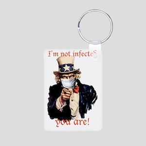 Im not infected... Aluminum Photo Keychain