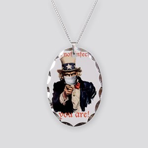 Im not infected... Necklace Oval Charm